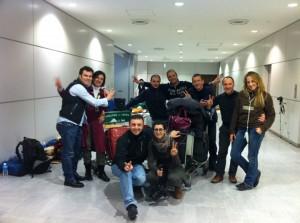 Fabio&Fabio all'aeroporto di Narita
